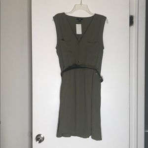 H&M Green Sleeveless Dress with belt